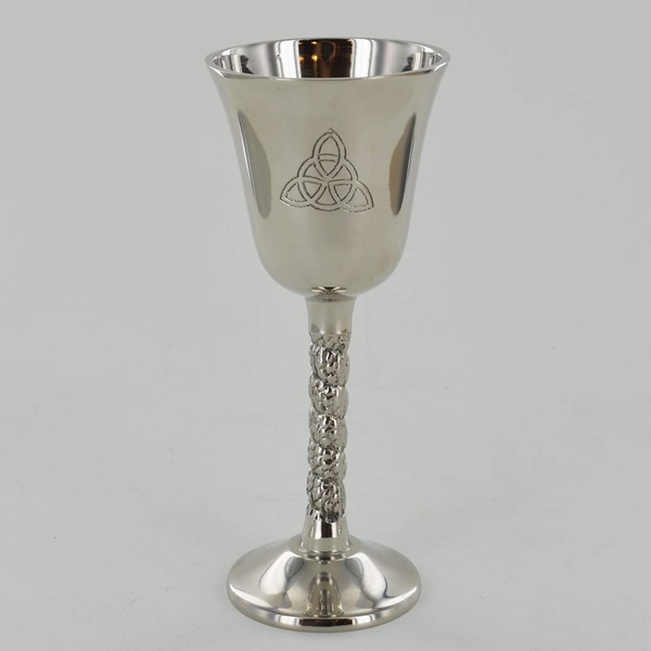 Triquetra Symbol Silver Goblet with Nickle Finish