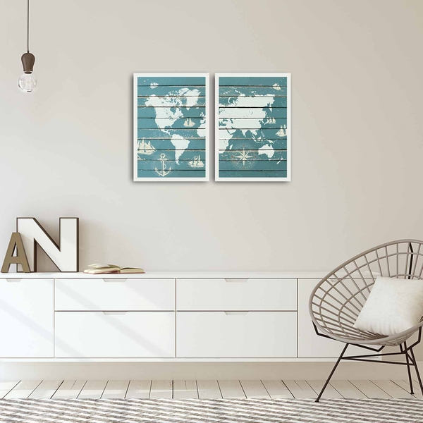 2PBCT-06 Multicolor Decorative Framed MDF Painting (2 Pieces)