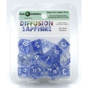 Diffusion Sapphire Poly 15 Set Dice