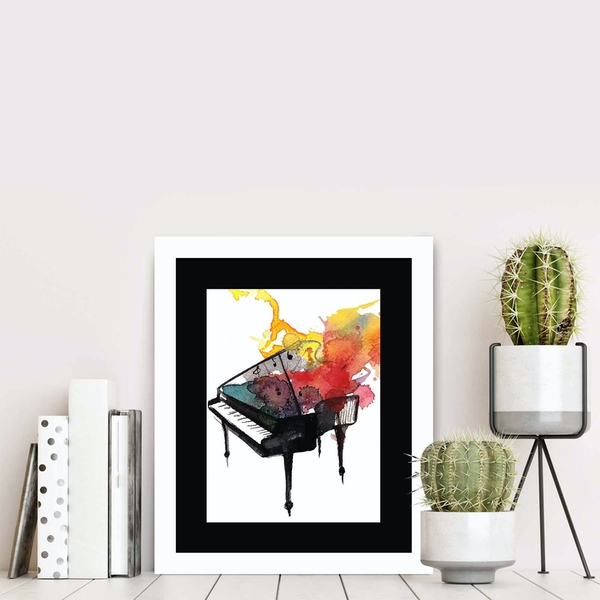BCT-055 Multicolor Decorative Framed MDF Painting