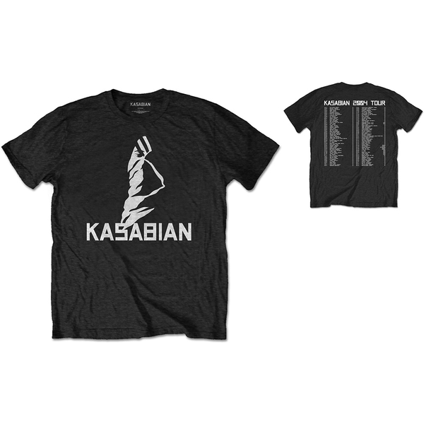 Kasabian - Ultra Face 2004 Tour Unisex Small T-Shirt - Black