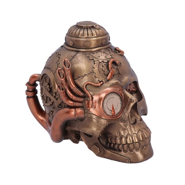 Steampunk Pipe Up Skull Ornament