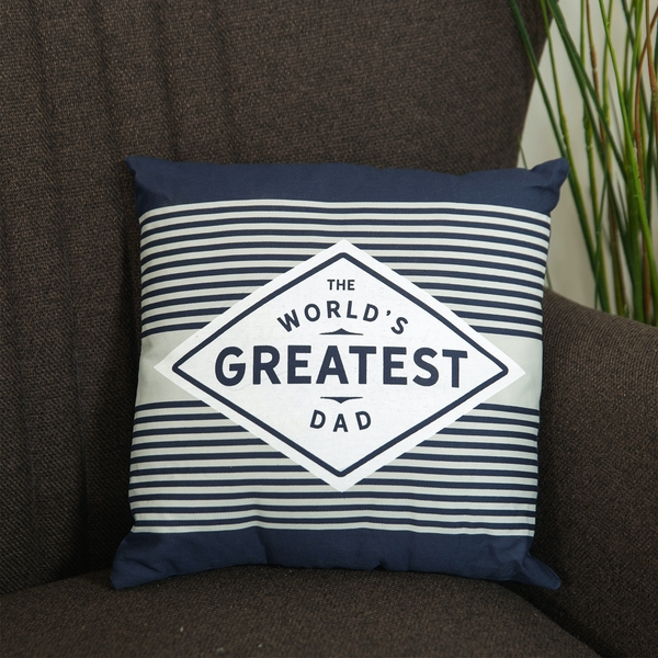 The World's Greatest Dad Square Scatter Cushion | 30cm