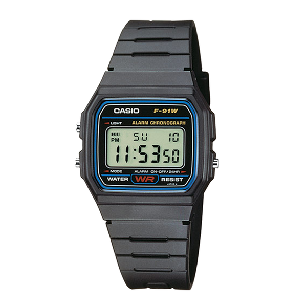 Casio F-91W-1YEF Mens Resin Digital Watch - Image 1