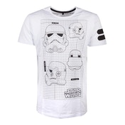 Star Wars - Tk-421 Imperial Army Helmet Grid View Men's Large T-Shirt - White
