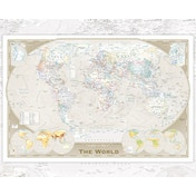 World Map Tripel Mini Poster