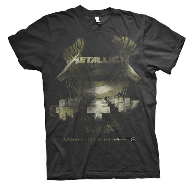 Metallica - Master of Puppets Distressed Unisex Medium T-Shirt - Black