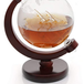 Globe Decanter with Wooden Stand | M&W - Image 3