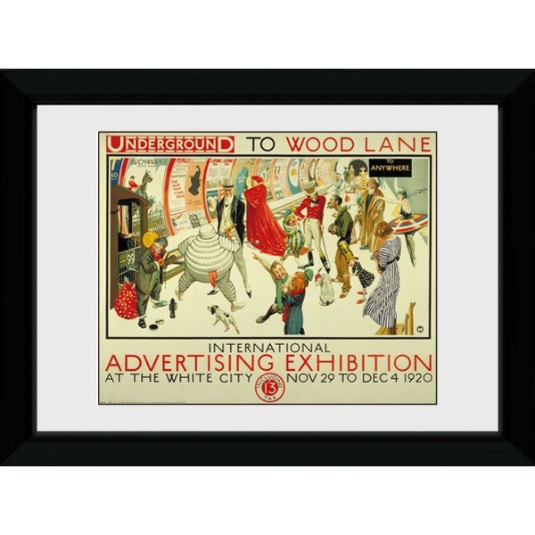 Transport For London Advertising Expo 50 x 70 Framed Collector Print
