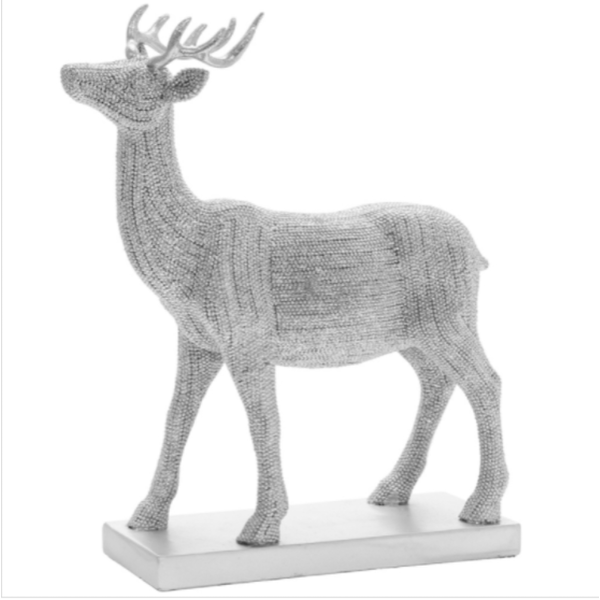 Silver Art Silver Stag Small Figurine By Lesser & Pavey