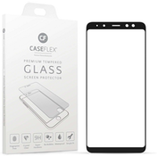 Caseflex Samsung Galaxy A8 (2018) Tempered Glass Screen Protector - Black Edge