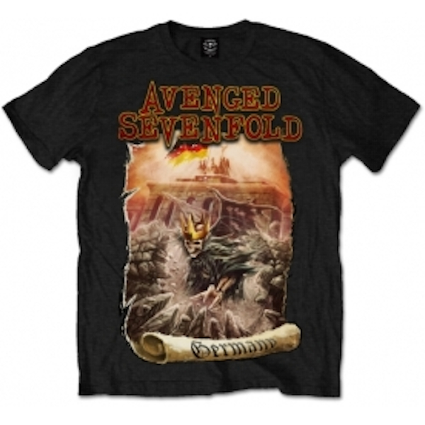 Avenged Sevenfold Germany Mens Black T Shirt: Large