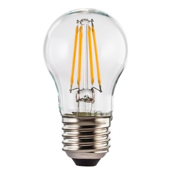Xavax LED Filament, E27, 470lm replaces 40W drop bulb, warm white