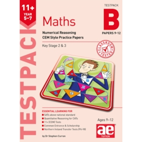 11+ Maths Year 5-7 Testpack B Papers 9-12: Numerical Reasoning CEM Style Practice Papers by Stephen C. Curran (Paperback, 2017)