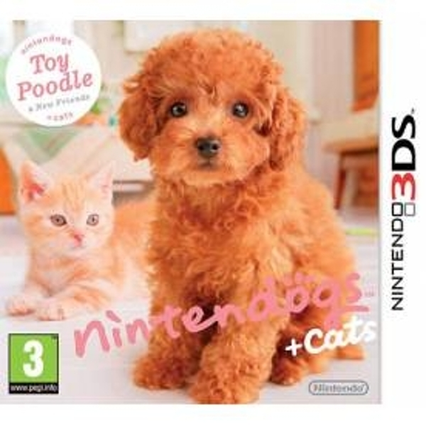 Ex-Display Nintendogs + Cats Toy Poodle & New Friends Edition Game 3DS Used - Like New