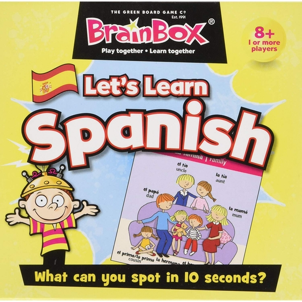 BrainBox Let's Learn Spanish Card Game