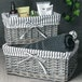 Grey Wicker Basket | M&W Medium - Image 2