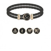 Harry Potter Leather Wristband Braided Charm