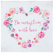 Floral Fusion Heart Wall Sign