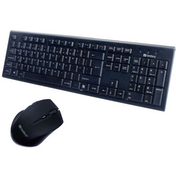 Sandberg Wireless Keyboard and Mouse Desktop Kit, Black UK Layout