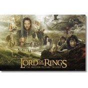 Ex-Display Lord Of The Rings Trilogy Maxi Poster Used - Like New