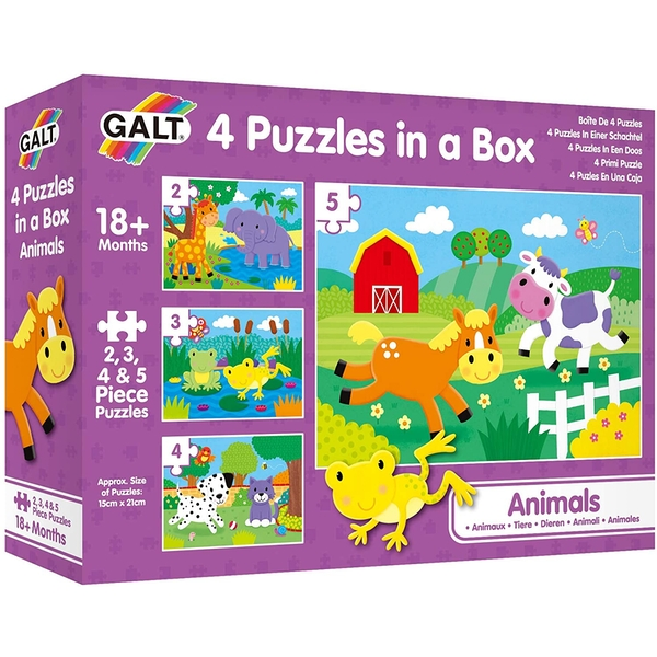 Animals 4 Puzzles In A Box