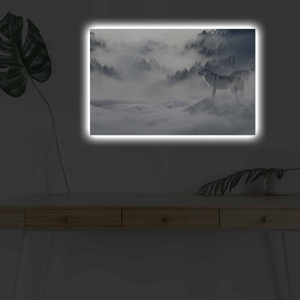 4570DHDACT-179 Multicolor Decorative Led Lighted Canvas Painting