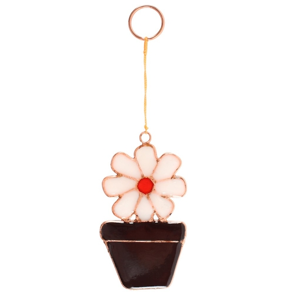 Daisy in Flower Pot Sun Catcher