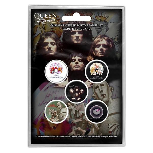 Queen - Early Albums Button Badge Pack