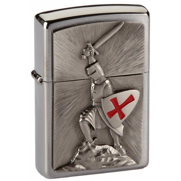 Zippo Crusade Victory Emblem Chrome Windproof Lighter