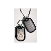 Mass Effect 3 Alliance Logo Silver Dog Tags