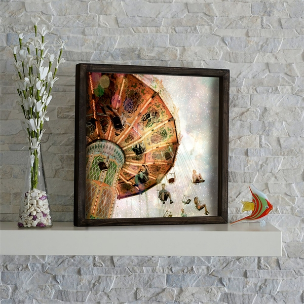 KZM514 Multicolor Decorative Framed MDF Painting