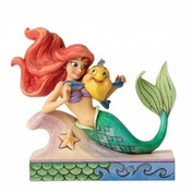 Ex-Display Fun and Friends (Ariel with Flounder) Disney Traditions Figurine Used - Like New