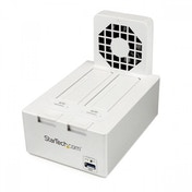 Startech USB 3.0 Dual SATA Hard Drive Docking Station with Fast Charge Hub, UASP and Fan - White