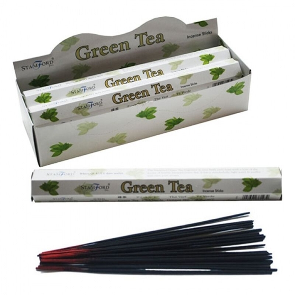 Green Tea (Pack Of 6) Stamford Hex Incense Sticks