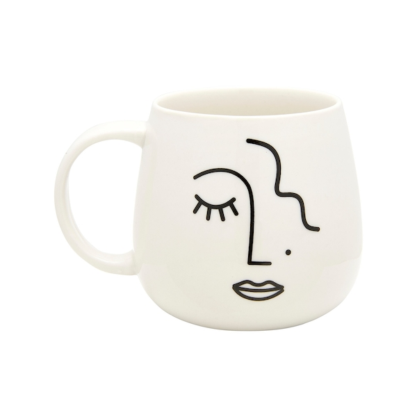 Sass & Belle Abstract Face Mug