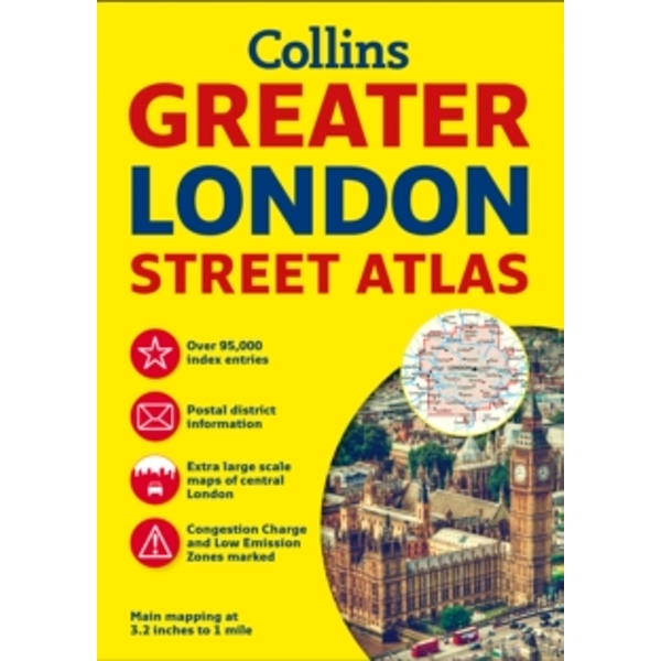 Greater London Street Atlas by Collins Maps (Paperback, 2016)