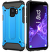 Samsung Galaxy S9 Armoured Shockproof Carbon Case - Sky Blue - Image 2