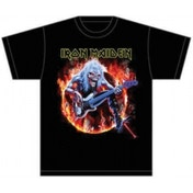 Iron Maiden Fear Live Flames Mens T Shirt: Small