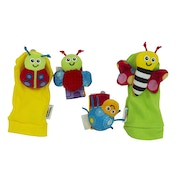 Lamaze Gardenbug Wrist Rattle Foot Finder Set