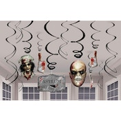 Halloween Sinister Bloody Hanging Swirl Decorations