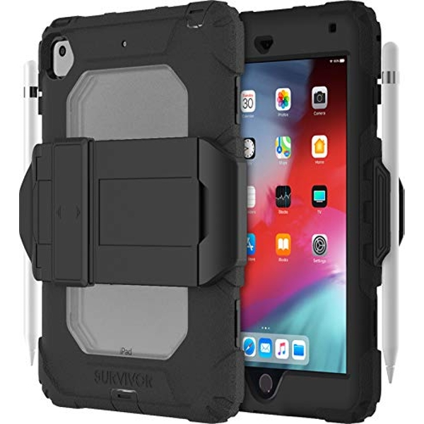 Griffin Survivor All-Terrain - Protective case for tablet - rugged - black, clear - for Apple iPad mini 5