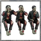 See No, Hear No Speak No Evil Zombies 10 cm