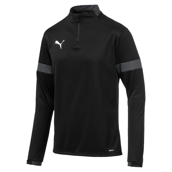 Puma Teen ftblPLAY 1/4 Zip Top Asphalt/Black - 12-14 Years