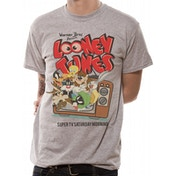 Looney Tunes - Retro Tv Men's Small T-Shirt - Grey