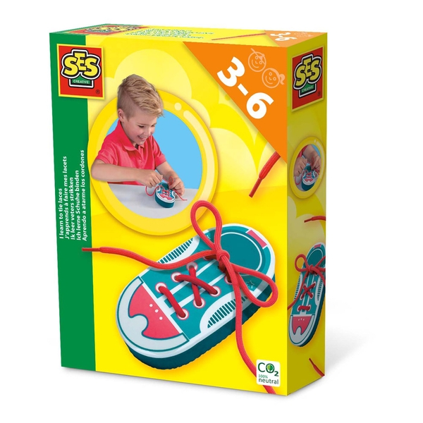 SES CREATIVE Children's I learn to Tie Shoe Laces