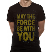 Star Wars - Force Text Men's X-Large T-Shirt - Black