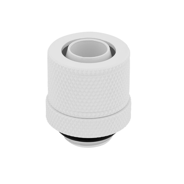 Corsair Hydro X Series XF White Compression 10/13mm (3/8 / 1/2 inch) ID/OD Fittings - Four Pack