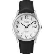 Timex TW2P75600 Mens Easy Reader Watch with Silver-Tone Case & Black Leather Strap