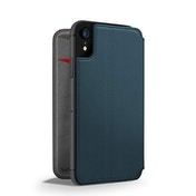 Twelve South SurfacePad for iPhone XR Slim luxury leather folio with card slots (deep teal)